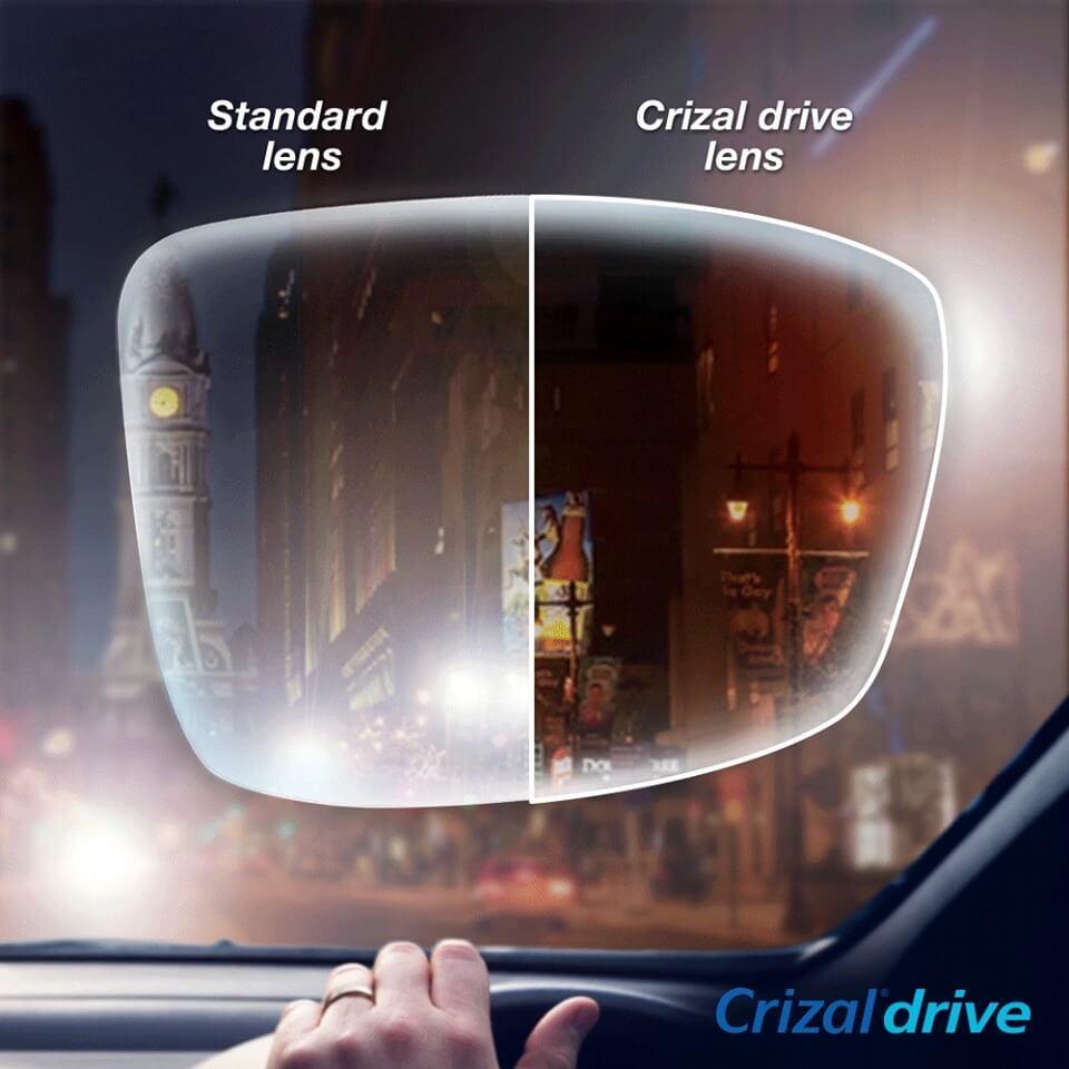 Standard Vs Crizal Drive Lens