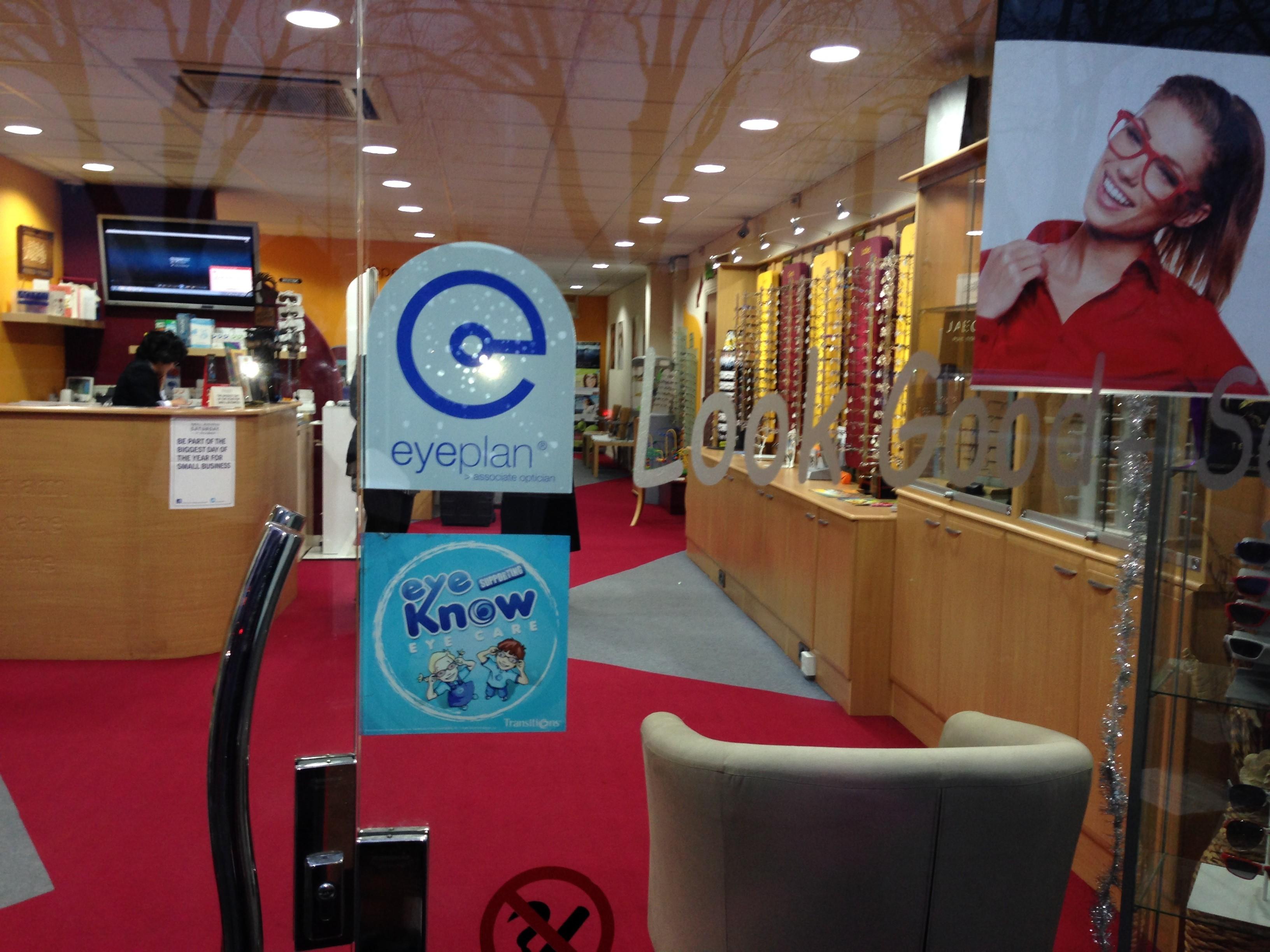 Feltham Eyecare Centre - Eyeplan window display