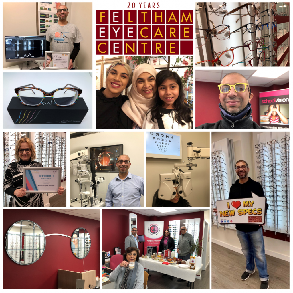 20 Year Anniversary for Feltham Eyecare Centre